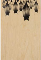 woodhi WOODHI postcard made of wood - Bats
