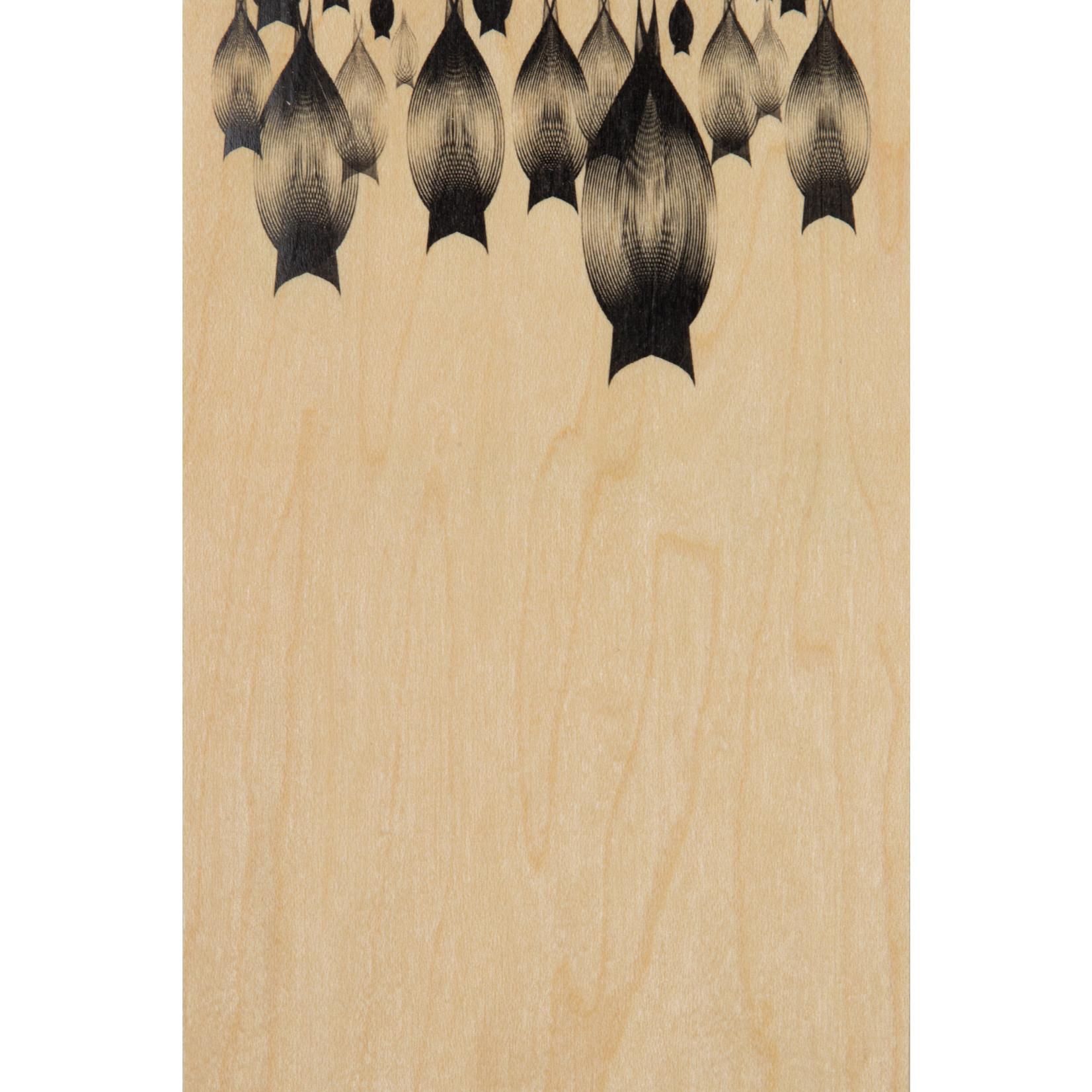 woodhi WOODHI postkaart van hout - Vleermuizen