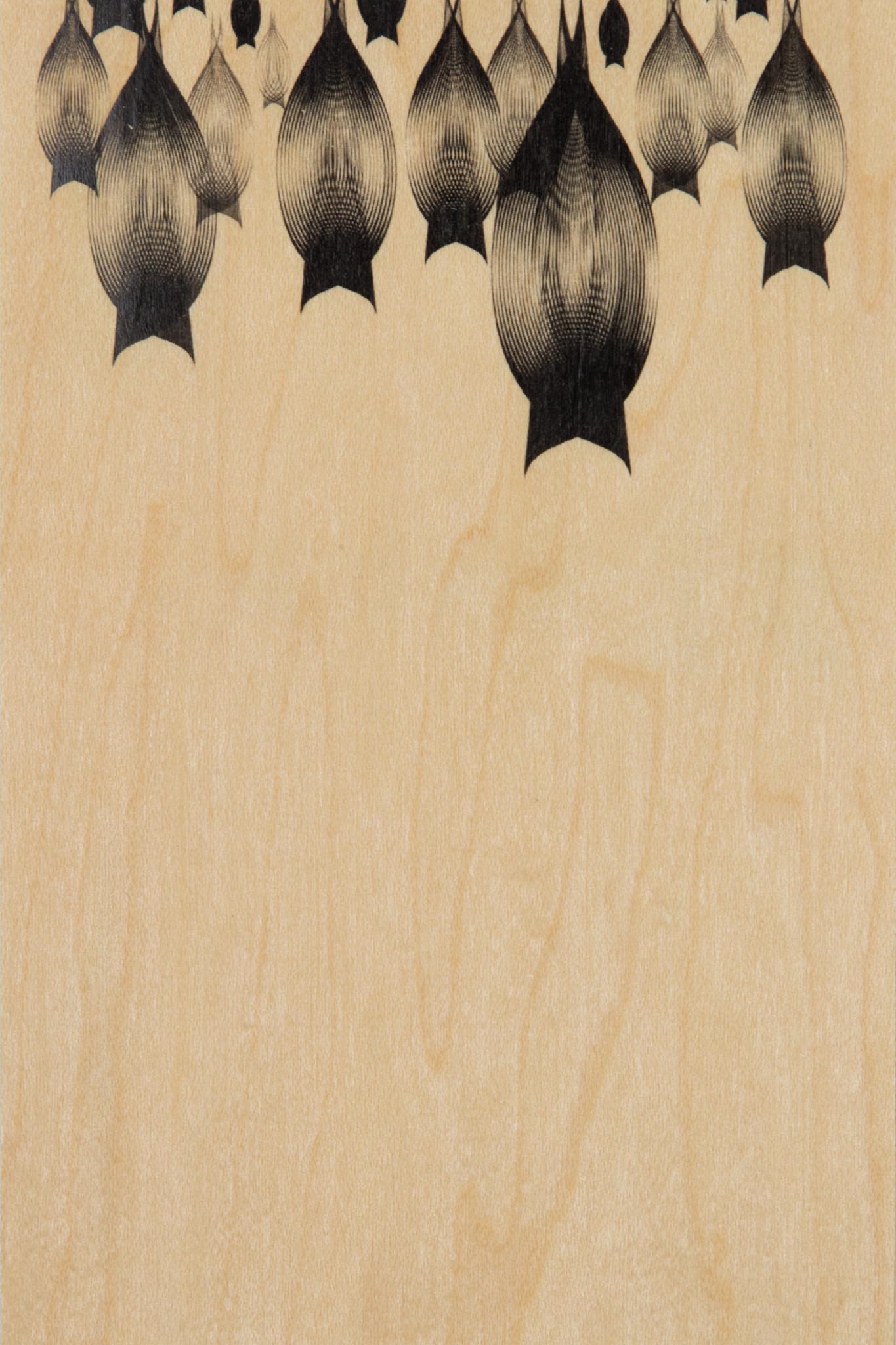 WOODHI postcard made of wood - Bats