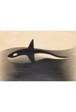 woodhi WOODHI postcard made of wood - Orca
