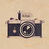 WOODHI postkaart van hout - Camera