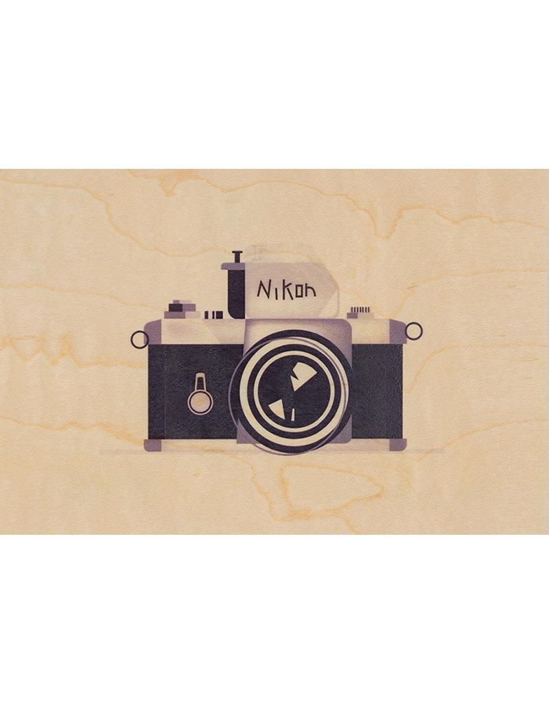 woodhi WOODHI postcard made of wood - Camera
