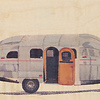 WOODHI postcard made of wood - Caravan