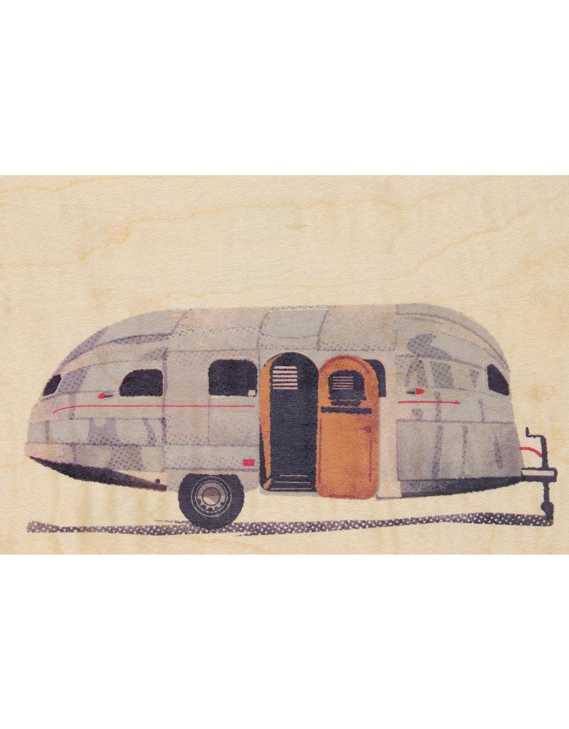 woodhi WOODHI postcard made of wood - Caravan