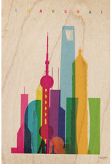 woodhi WOODHI postcard made of wood - Shanghai