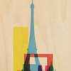WOODHI postcard made of wood - Paris