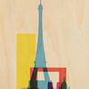 WOODHI postkaart van hout - Paris