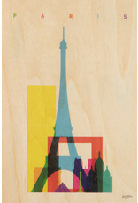 woodhi WOODHI postcard made of wood - Paris