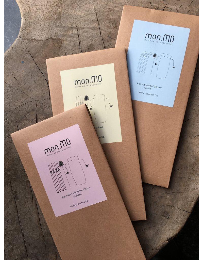 mon.MO mon.MO Herbruikbare Rietjes - 4 pack met borstel en zakje