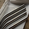 mon.MO Reusable Bent Straws - 4 pack with brush & pouch