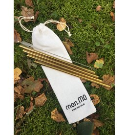 mon.MO mon.MO Reusable smoothie straws - GOLD