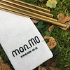 mon.MO Reusable Smoothie Straws - GOLD - 4 pack with brush & pouch - Copy