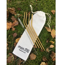 mon.MO mon.MO Reusable bent straws - GOLD