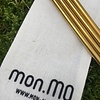 mon.MO Reusable Bent Straws - GOLD - 4 pack with brush & pouch