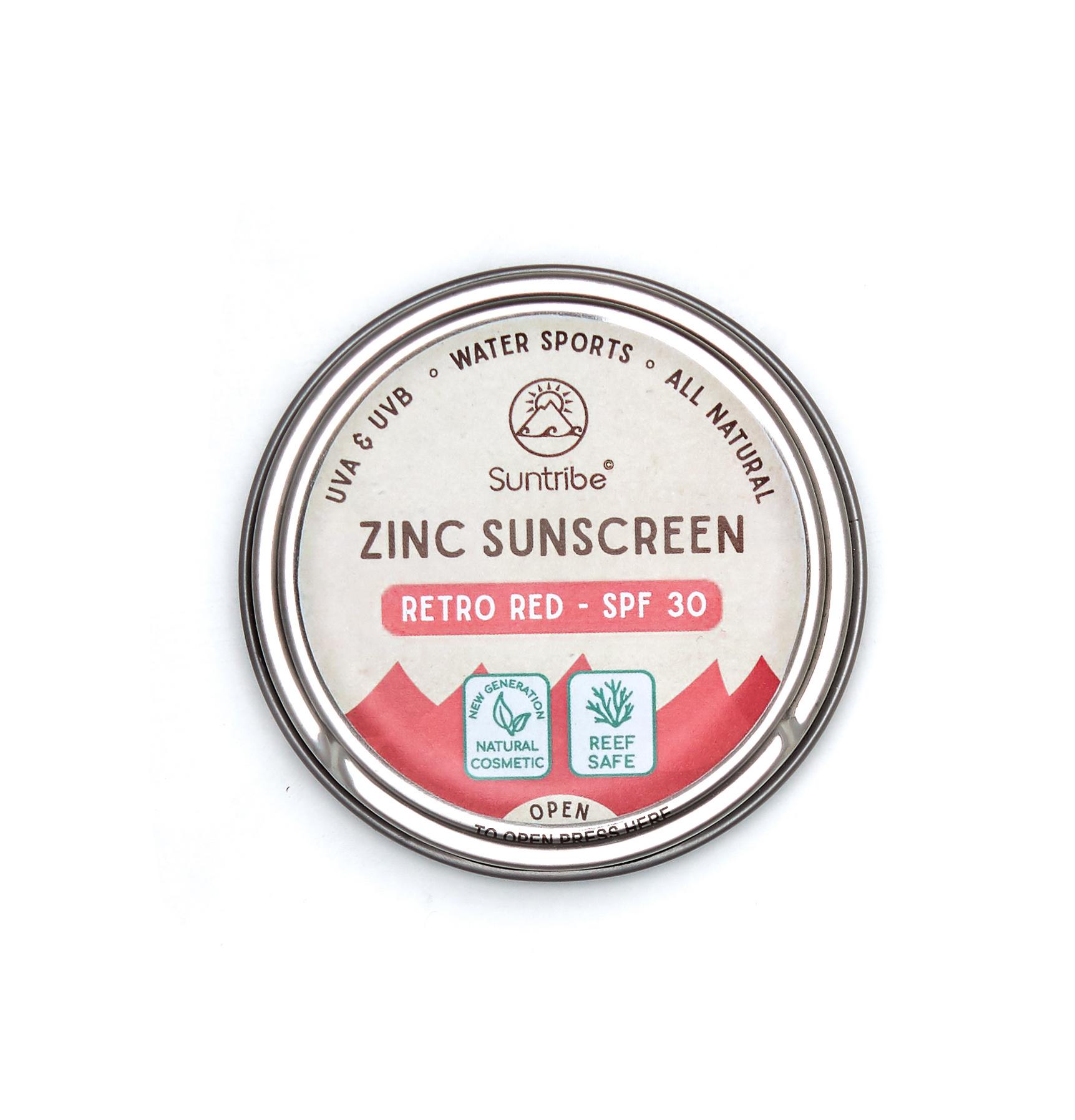 Suntribe Zinc Sunscreen Tinted - Retro Red - 30SPF