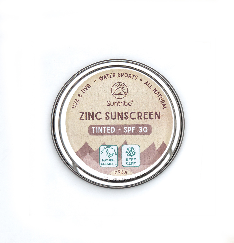 Suntribe Zink Zonnecrème Getint - Naturel - SPF30