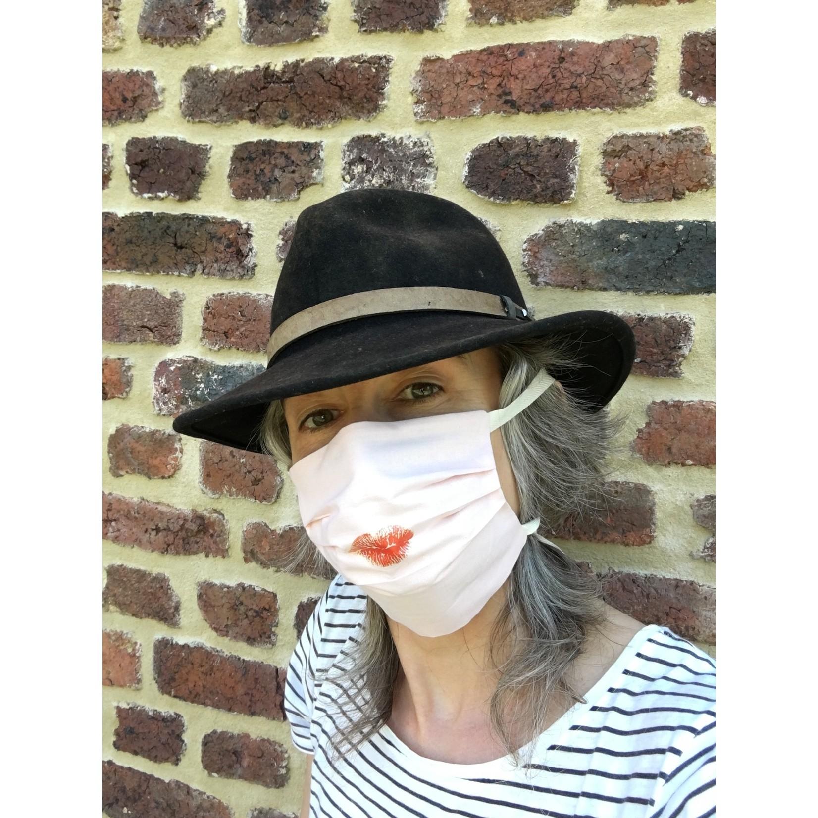 Elke Hoste Face Mask - Pearl Blush Kiss - organic cotton