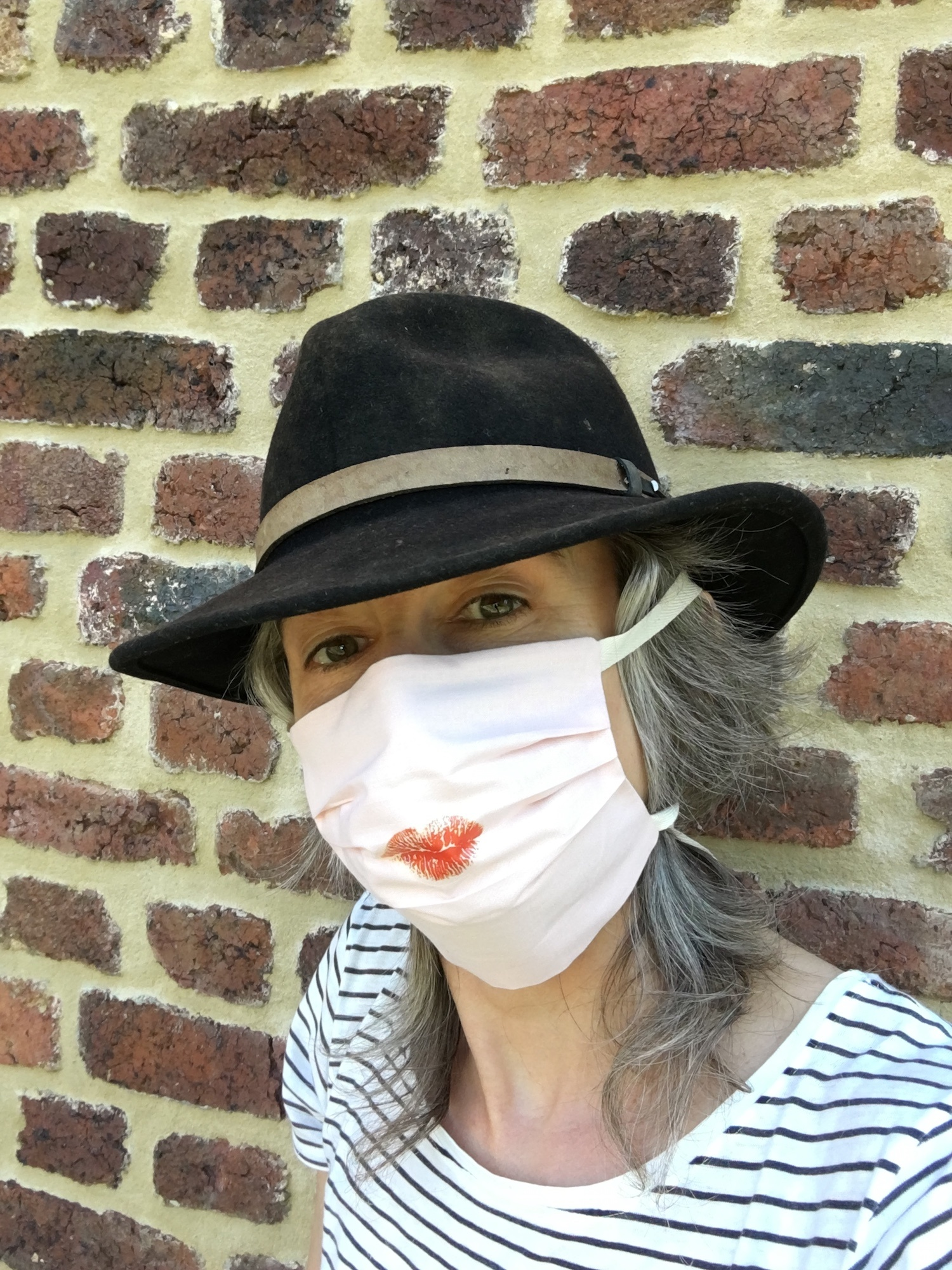 Face Mask - Pearl Blush Kiss - organic cotton