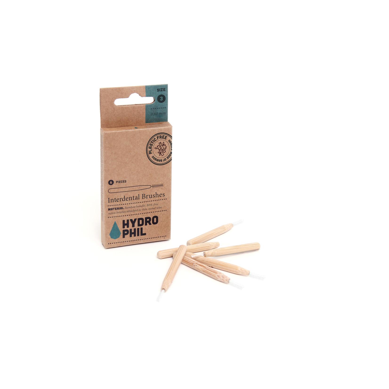 Hydrophil HYDROPHIL Interdental Brushes - Bamboo & BPA-free Nylon