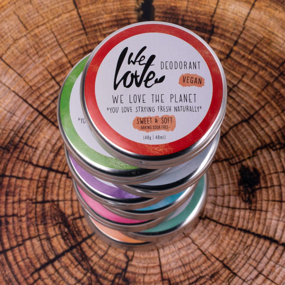 We Love The Planet - Deodorant - Sweet & Soft (vegan) - in blikje
