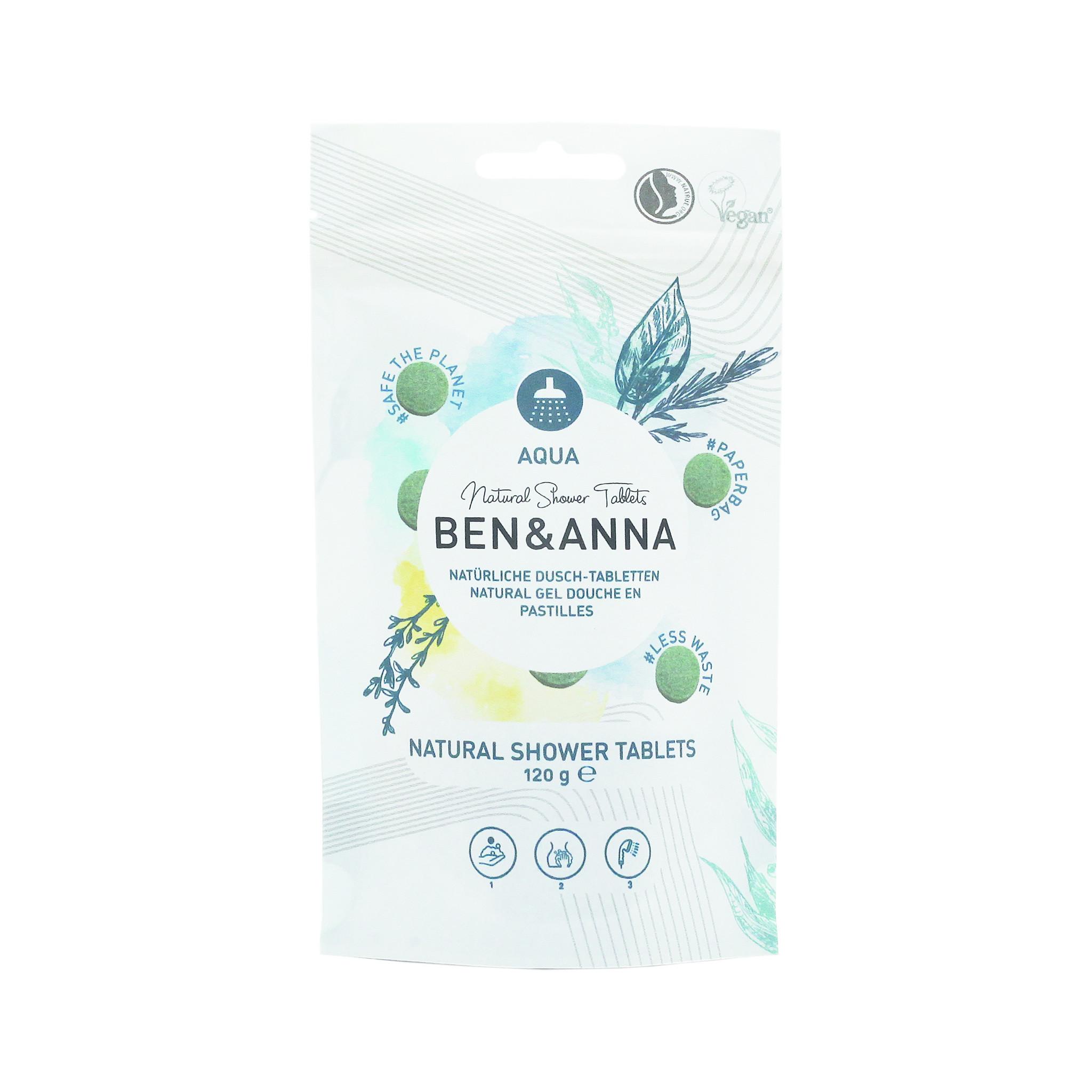 Ben & Anna Natural Shower Tablets - Aqua