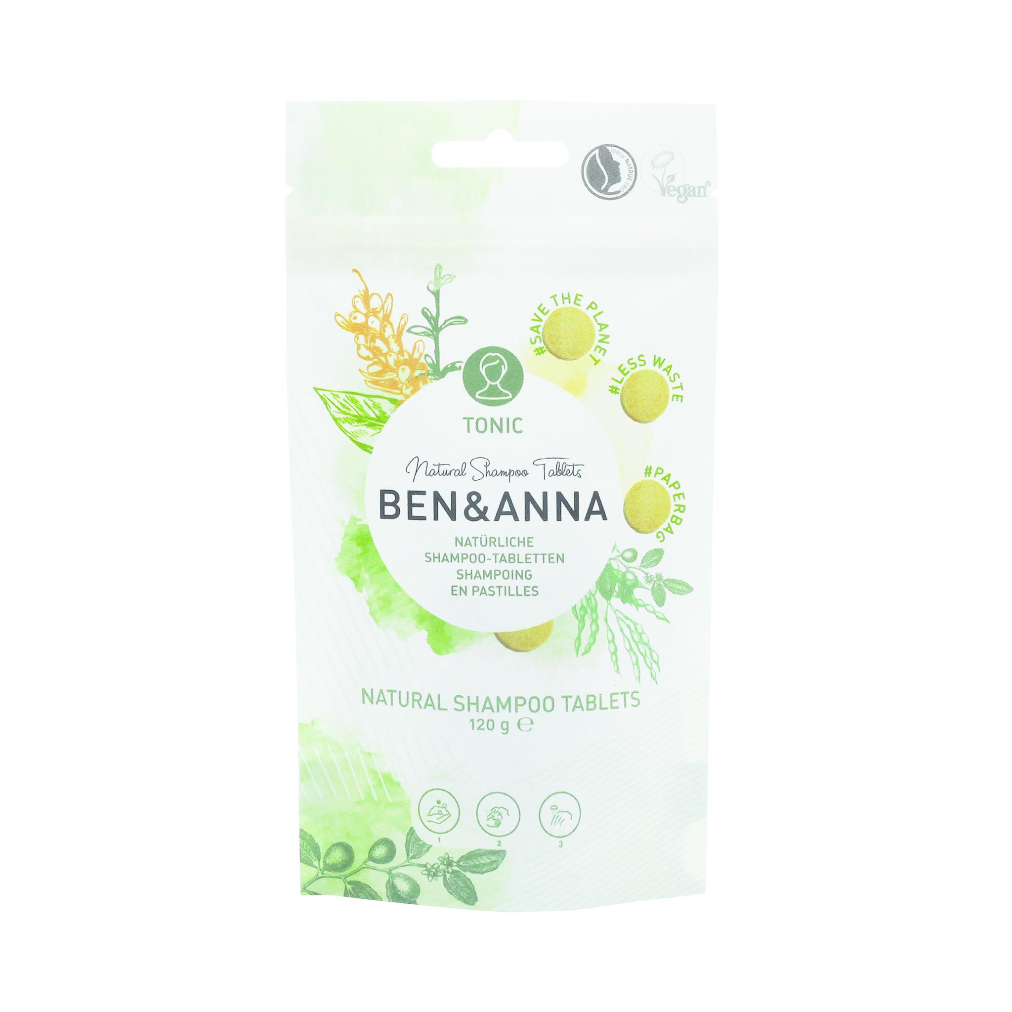 Ben & Anna Natuurlijke Shampootabletten - Tonic