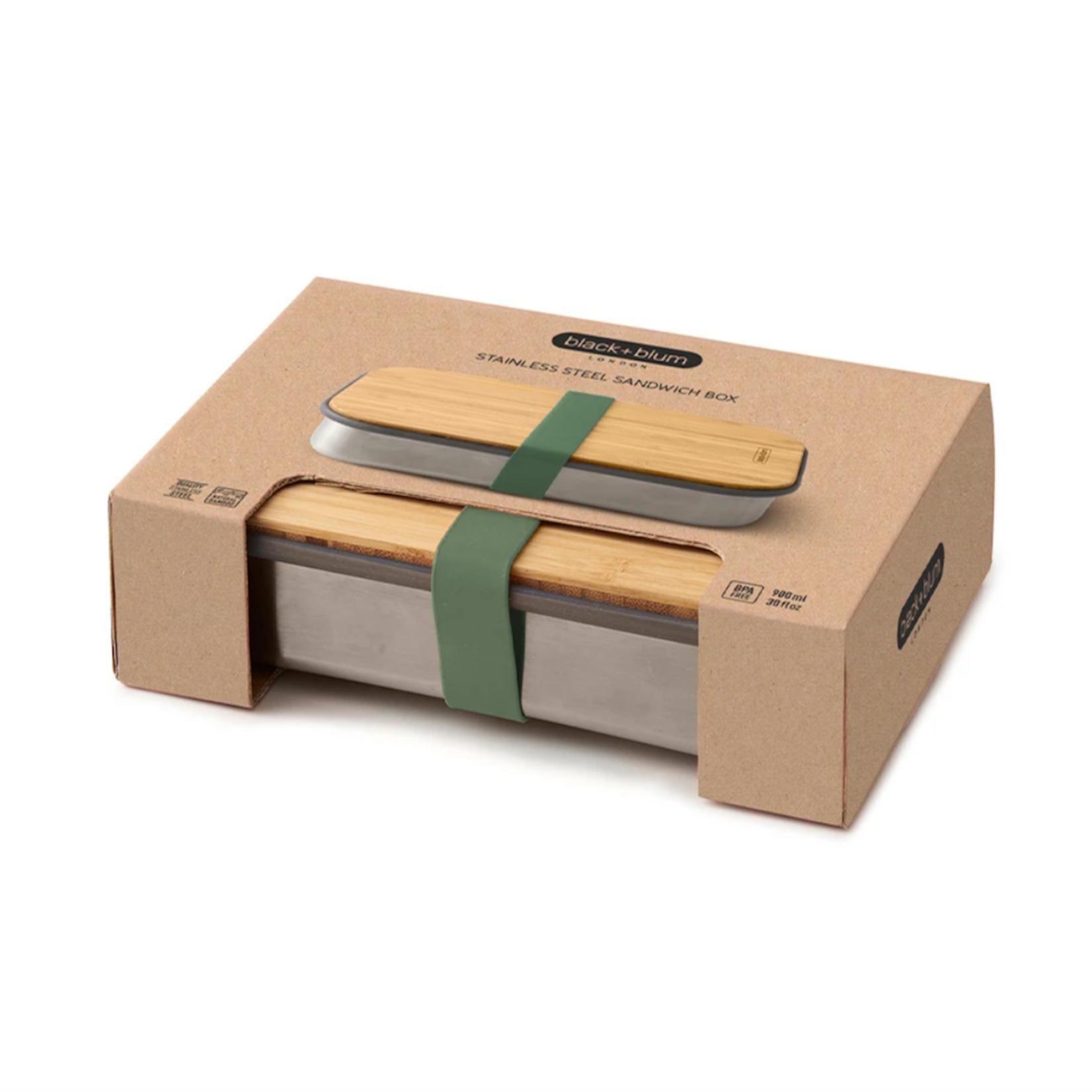 Black+Blum BLACK + BLUM Stainless steel & bamboo sandwich box - 900ml