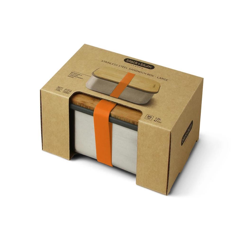 BLACK + BLUM Stainless steel & bamboo sandwich box - 1.25L