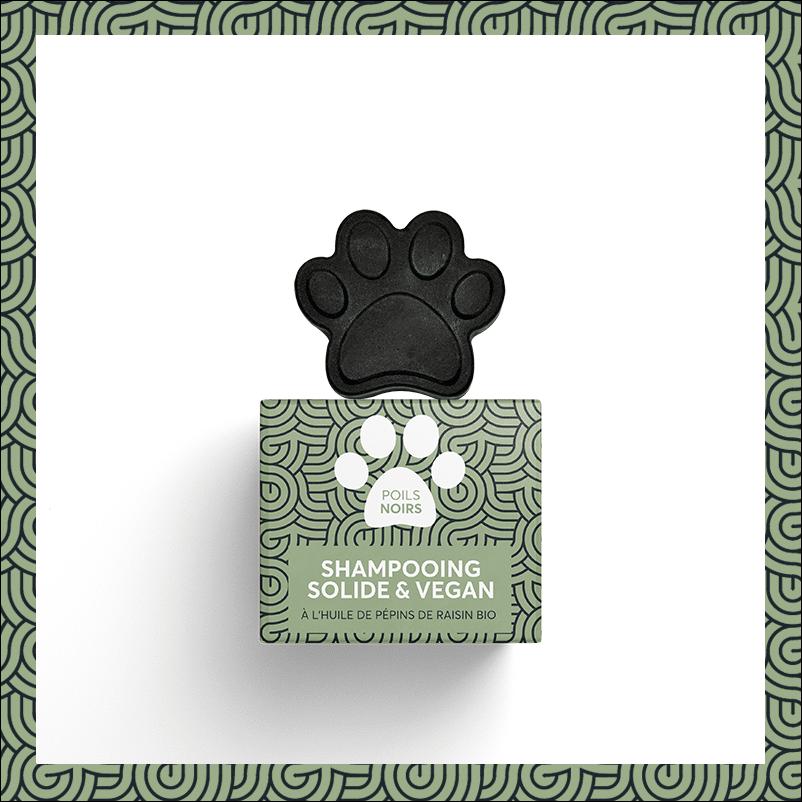 PEPET'S Vegan Shampooblokje voor huisdieren - Zwarte/Donkere Vacht