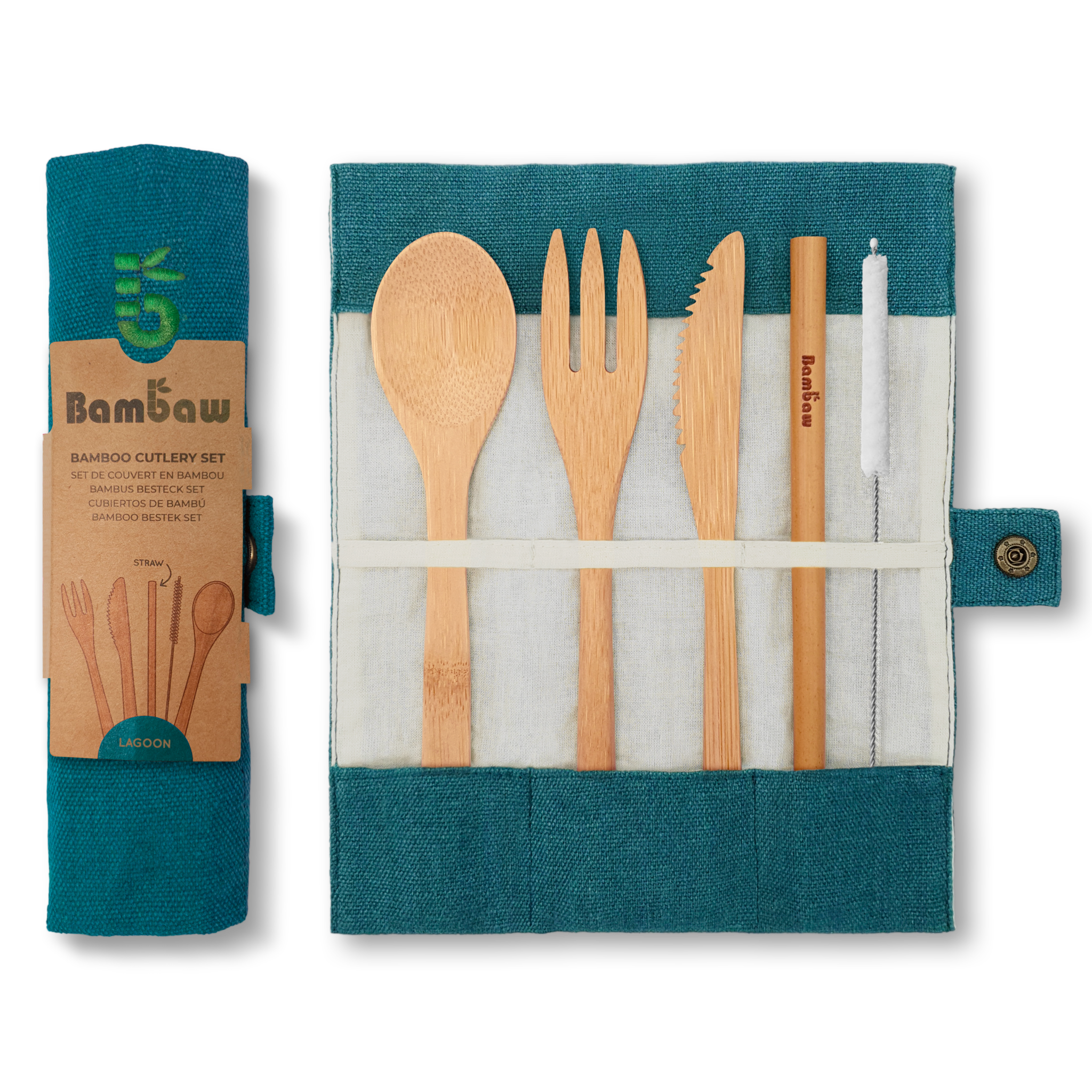 BAMBAW - Bamboo Cutlery Set - 3 colours