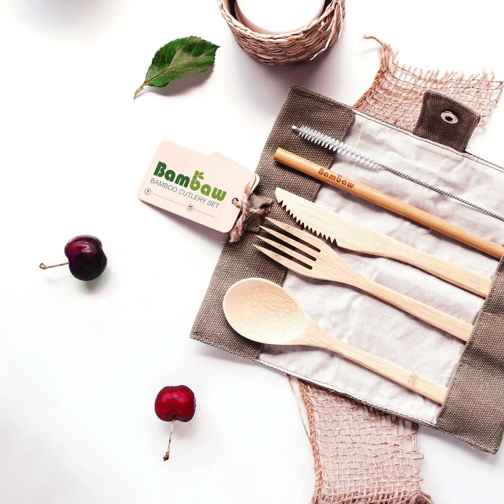 Bambaw BAMBAW - Bamboe Bestekset - 3 kleuren