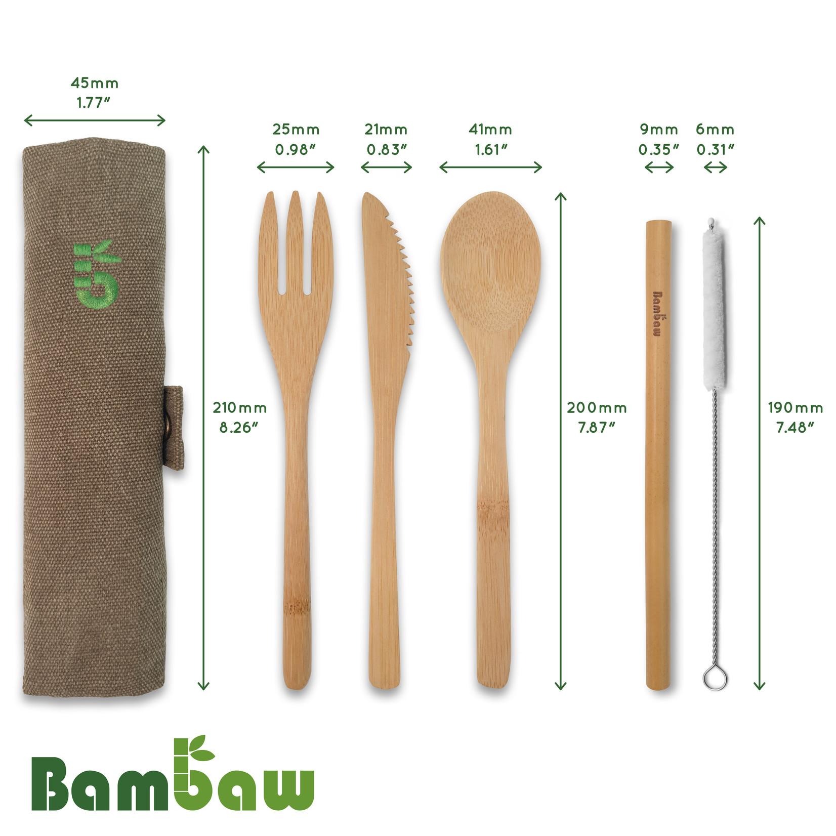 Bambaw BAMBAW - Bamboo Cutlery Set - 3 colours