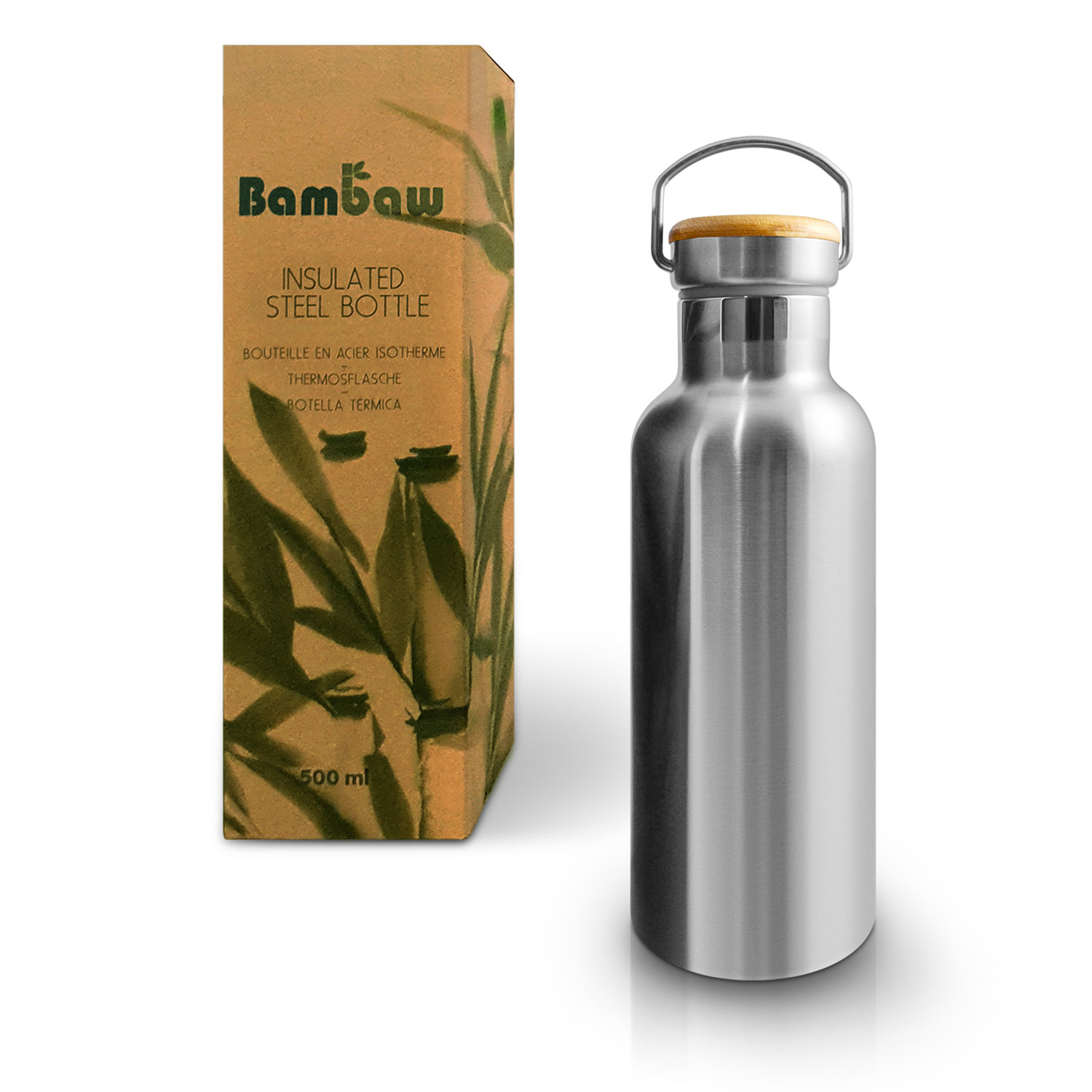 BAMBAW - Thermosfles in roestvrijstaal - 500ml, 750ml & 1000ml