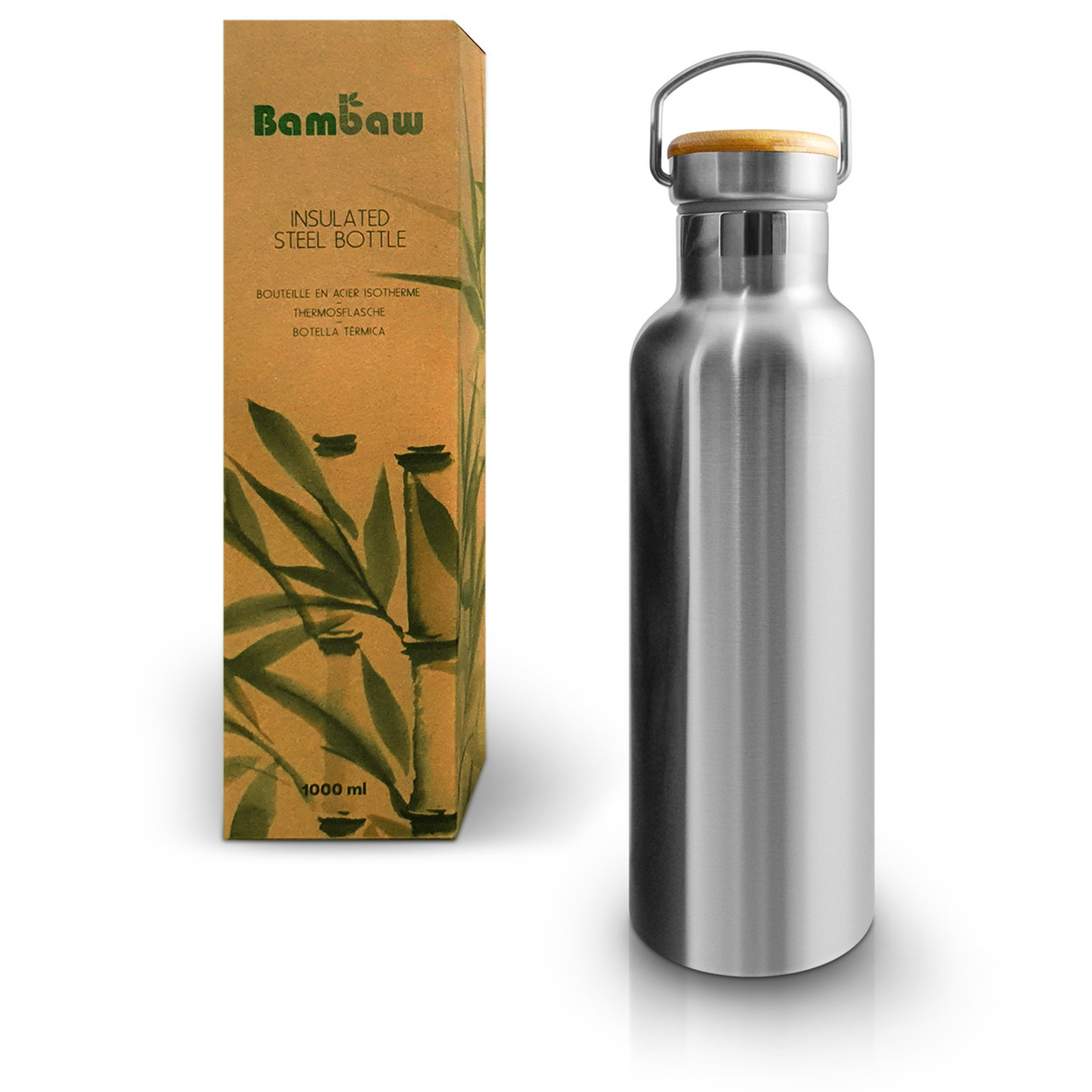 Bambaw BAMBAW - Thermosfles in roestvrijstaal - 500ml, 750ml & 1000ml