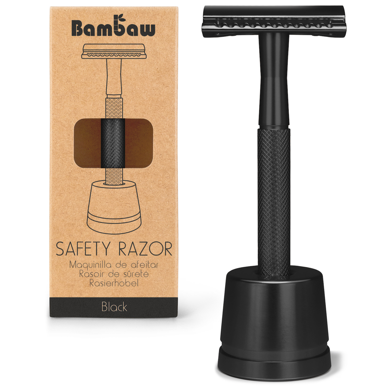 Bambaw BAMBAW - Reusable Safety Razor with Stand - 3 colours