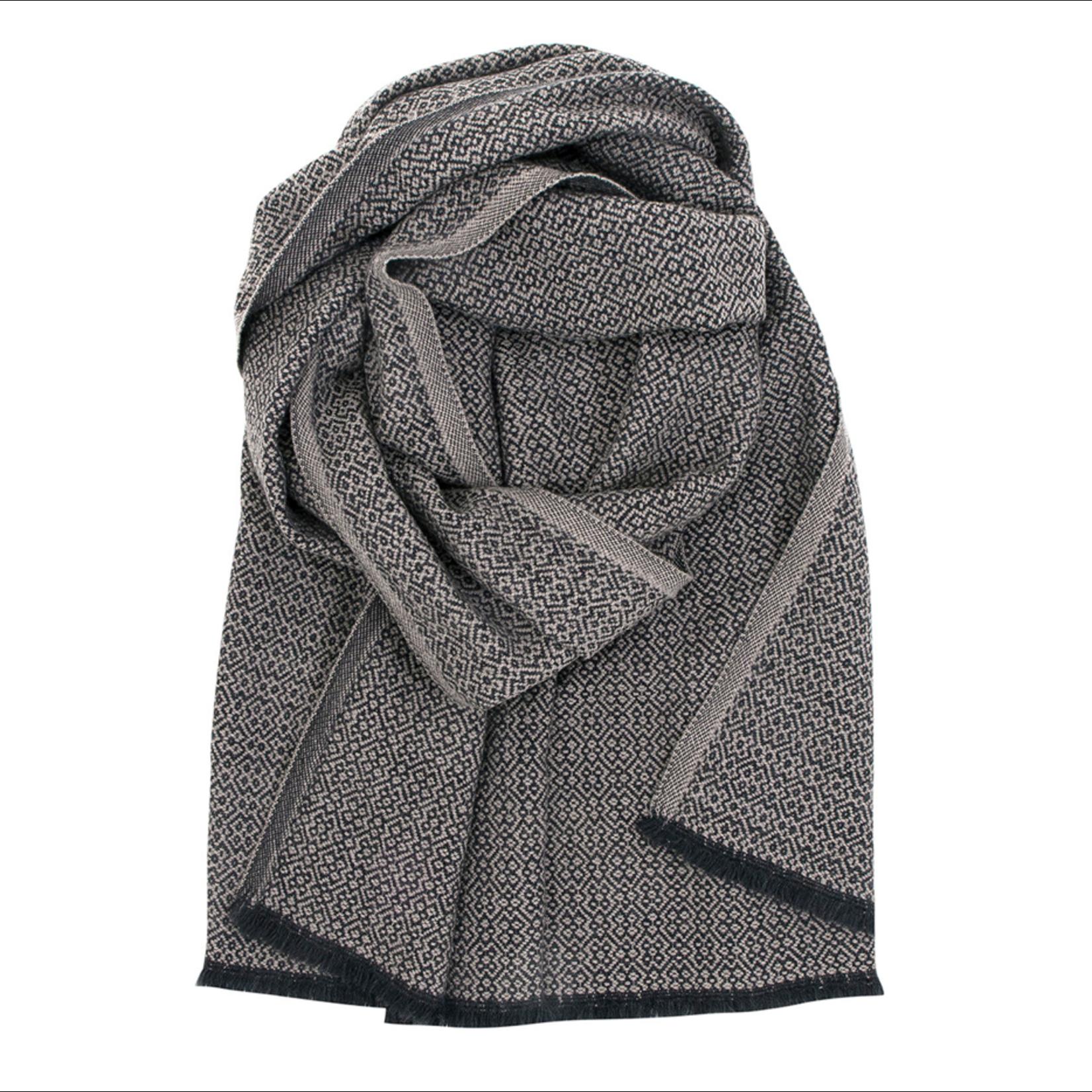 Lapuan Kankurit KOLI sjaal, 100% merinowol, zwart-beige