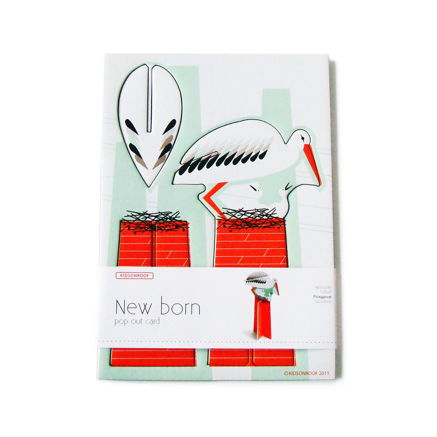 Studio Roof STUDIO ROOF - Pop Out Cards - Stork