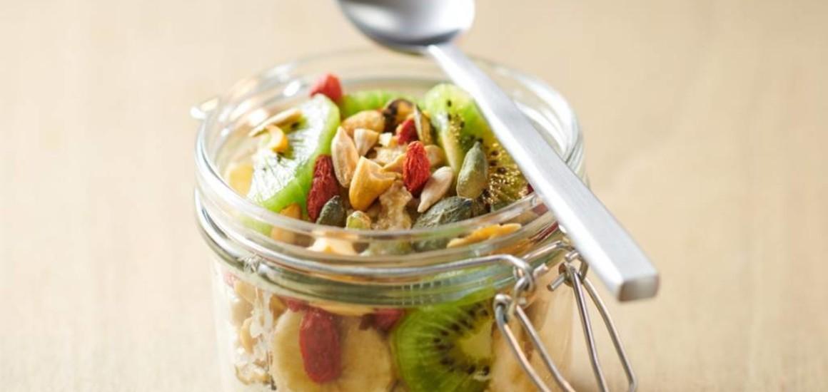 Porridge à la vanille riche en protéines