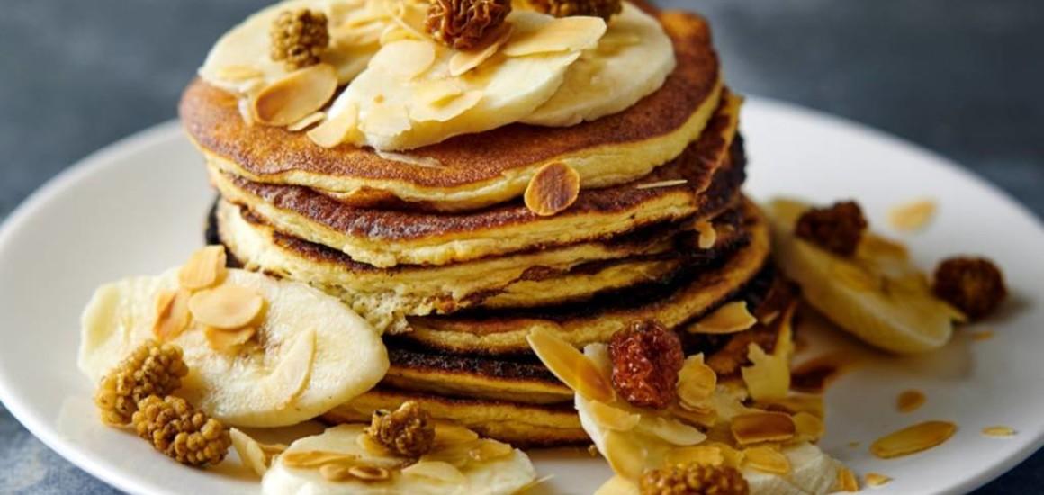 Eiwitrijke bananen pannenkoeken