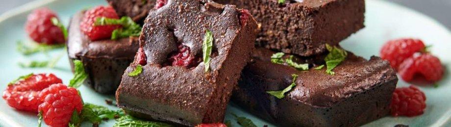 Chocolade/frambozen proteïne brownies