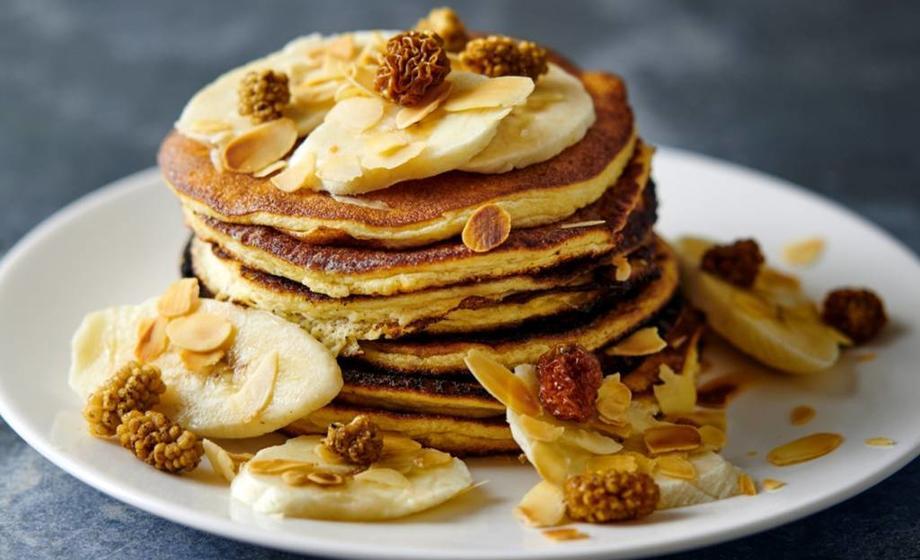 Pancakes de proteína y plátano