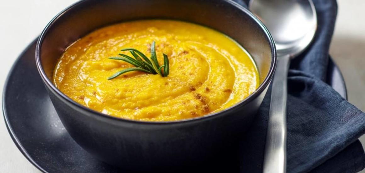 Sopa de calabaza de alto valor proteico