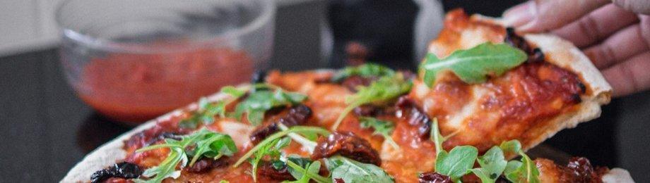 Eiwitrijke pizza
