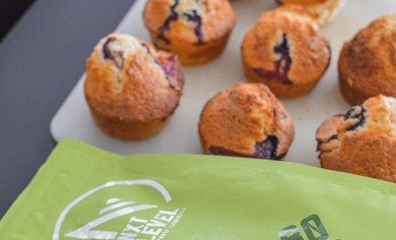 Vegan Banana & Blueberry Muffins