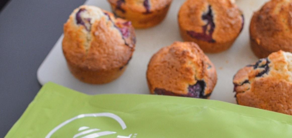 Muffins Vegan à la banane et aux myrtilles