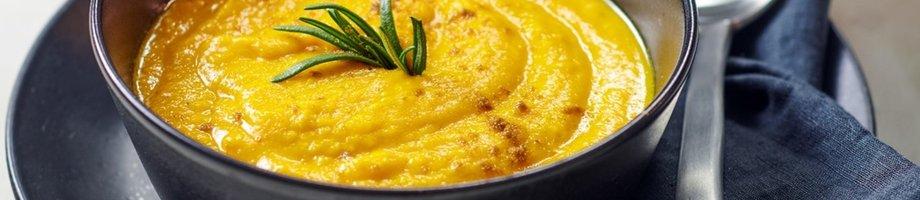Soupe au potiron riche en protéines
