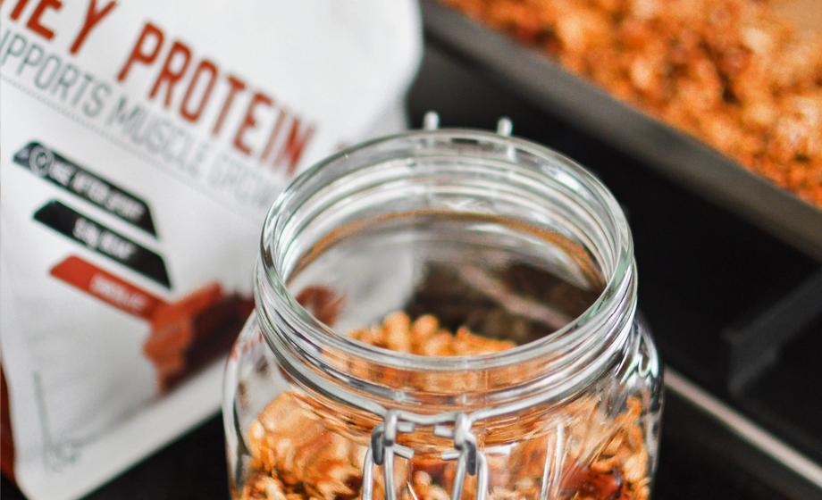Granola alta en proteínas