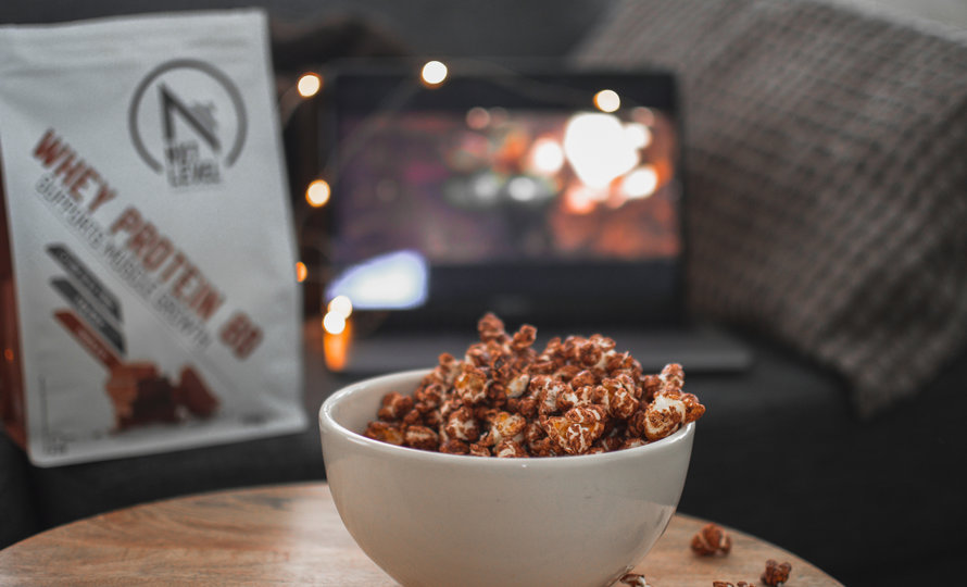 Protein chocolate popcorn