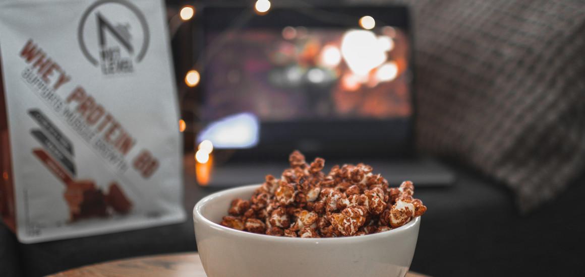 Eiwitrijke chocolade popcorn