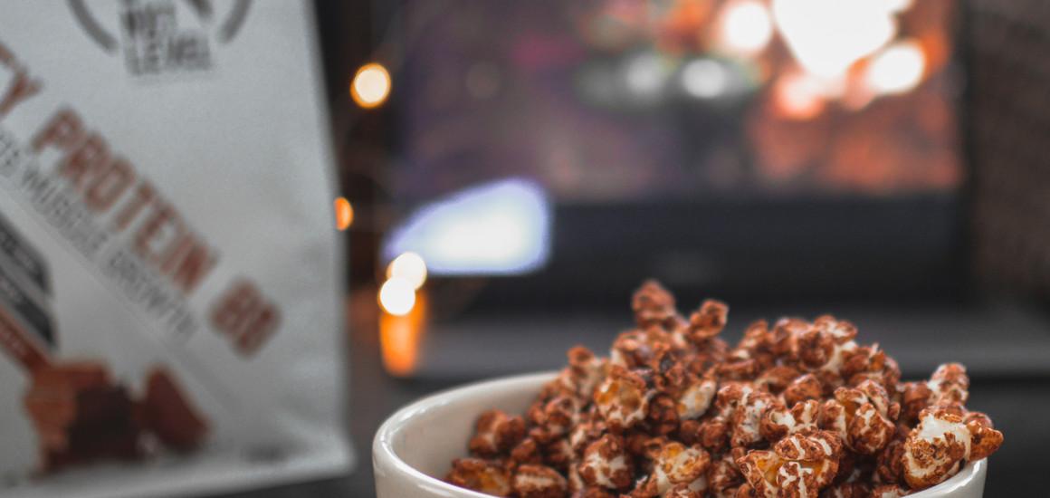 Palomitas de proteína y chocolate negro